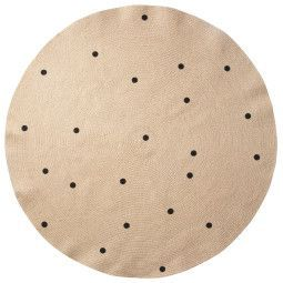 Ferm Living Black Dots vloerkleed 130