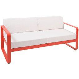 Fermob Bellevie 2-zits loungebank kussen wit
