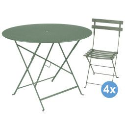Fermob Bistro tuinset 96 tafel + 4 stoelen