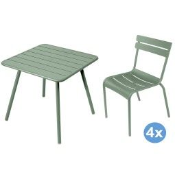 Fermob Luxembourg tuinset 80x80 tafel + 4 stoelen (chair)