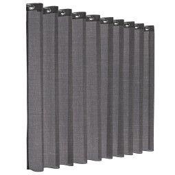 Flinders Eccentric gordijn - transparant - concrete grey
