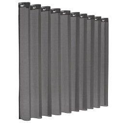 Flinders Sunrise gordijn - transparant - concrete grey