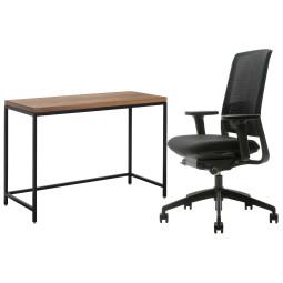 Flinders Zinn smart bureaustoel & Plato bureau Thuiswerkplek