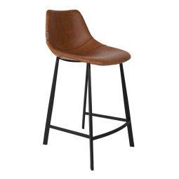 Dutchbone Tweedekansje - Franky barkruk 65cm bruin