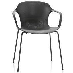 Fritz Hansen Tweedekansje - Nap Chair stoel met armleuningen pepper grey