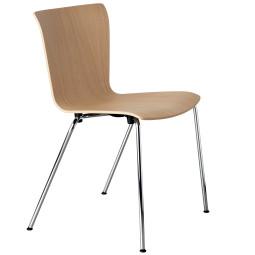 Fritz Hansen Vico Duo stoel, chroom onderstel