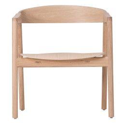 Gazzda Muna lounge stoel whitewash