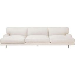 Gubi Flaneur 3-zits sofa Dedar chambray 024, messing