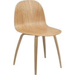 Gubi Gubi 2D Wood stoel