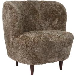 Gubi Stay Lounge Chair Wol Gerookt Eiken