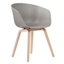 Hay Tweedekansje - AAC22 stoel met gezeept onderstel, kuip grijs