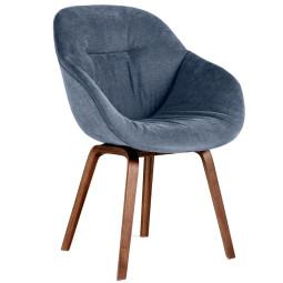 Hay About a Chair AAC123 soft stoel met walnoot onderstel
