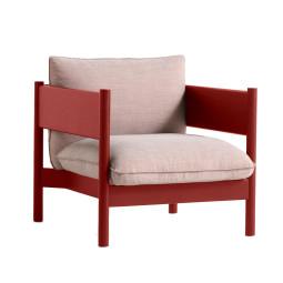 Hay Arbour Club fauteuil rood gelakt beuken
