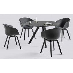 Hay Copenhague eetkamerset zwart + 4 AAC22 stoelen