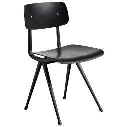 Hay Tweedekansje - Result stoel zwart gebeitst, zwart onderstel