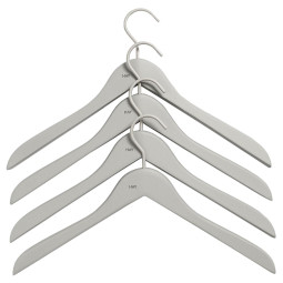 Hay Soft Coat Hanger Slim kleerhanger set van 4 slim grey