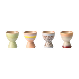 HKliving 70's Ceramic eierdopje set van 4