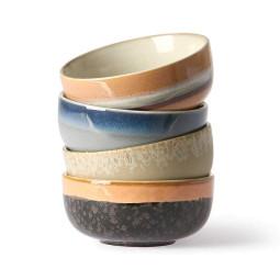 HKliving 70's Ceramic tapas schaal set van 4