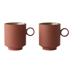 HKliving Bold and Basic coffee mok set van 2