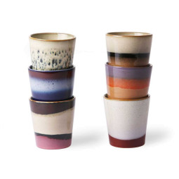 HKliving 70's Ceramic mokken set of 6