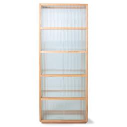 HKliving Display Cabinet Ribbed Glass vitrinekast