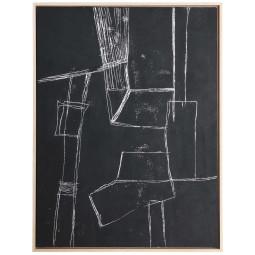 HKliving Framed Brutalism schilderij 63x83 zwart