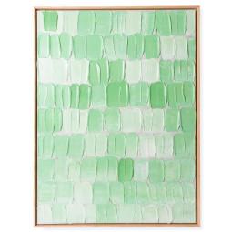 HKliving Framed Green Palette schilderij 78x103