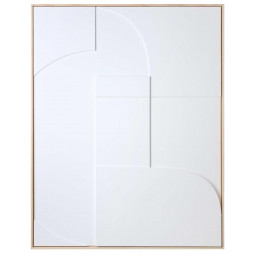 HKliving Framed Relief schilderij 63x83 White A