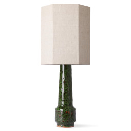 HKliving Retro Stoneware tafellamp green