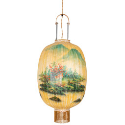 HKliving Traditional Lantern hanglamp Oval L