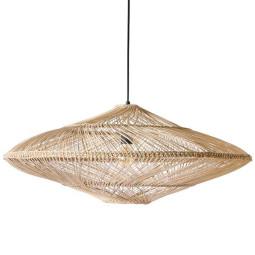 HKliving Wicker hanglamp oval natural