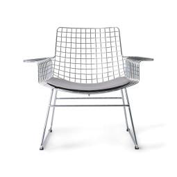 HKliving Tweedekansje - Wire fauteuil chrome met kussen