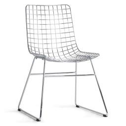 HKliving Tweedekansje - Wire stoel chroom