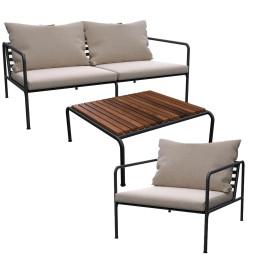 Houe Avon loungeset 2-zits loungebank + fauteuil + salontafel