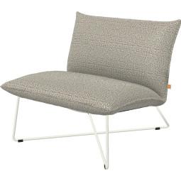 Jess Earl low fauteuil outdoor met wit onderstel