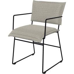 Jess Norman stoel outdoor met armleuning zwart onderstel