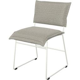 Jess Norman stoel outdoor met wit onderstel