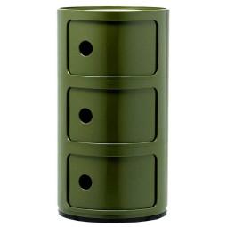 Kartell Tweedekansje - Componibili bijzettafel large (3 comp.) groen