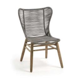 Kave Home Zabel fauteuil met voetensteun