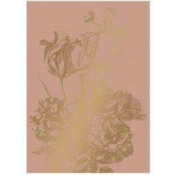 KEK Amsterdam Engraved Flowers behang gold metallic nude