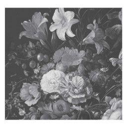 KEK Amsterdam Golden Age Flowers zwart wit behang