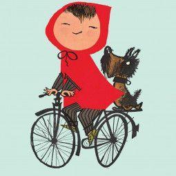 KEK Amsterdam Riding my Bike groen behang