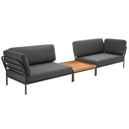 Houe Level loungeset tuin 2 dark grey