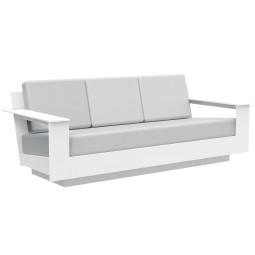 Loll Designs Nisswa 3-zits loungebank cast silver