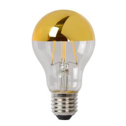 Lucide A60 LED lichtbron E27 5W 2700K kopspiegel goud dimbaar