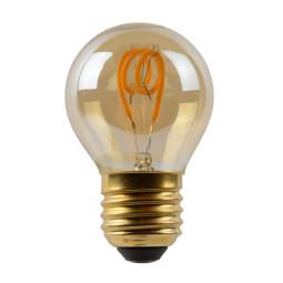 Lucide G45 LED lichtbon E27 3W 2200K amber dimbaar