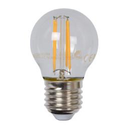 Lucide G45 LED lichtbron E27 4W 2700K transparant dimbaar