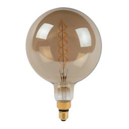 Lucide Giant Bulb LED lichtbron E27 Ø200 8W 2200K fumé dimbaar