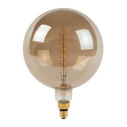 Lucide Giant Bulb LED lichtbron E27 Ø250 10W 2200K fumé dimbaar