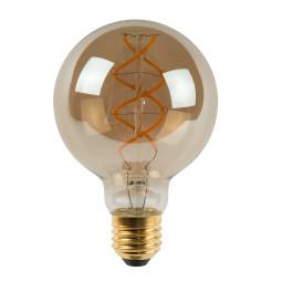 Lucide Giant Bulb LED lichtbron E27 Ø80 5W 2200K fumé dimbaar
